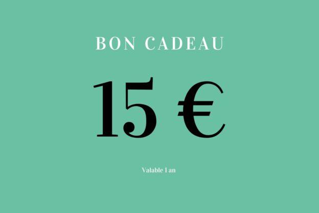 Bon cadeau 15 euros