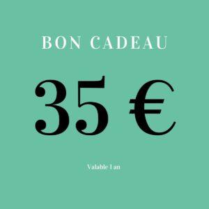 Bon cadeau 35 euros