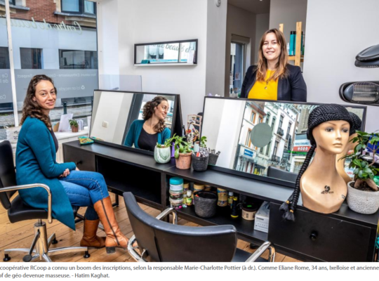 Article Le SOIR - presse - RCOOP redore le blason des métiers de la beauté - ixelles