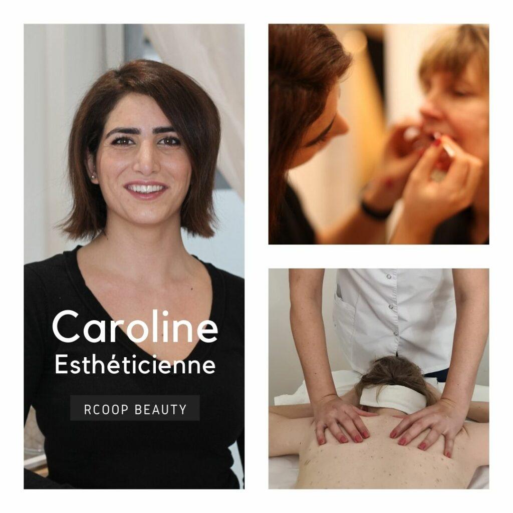 Caroline esthéticienne dans le salon de coworking RCOOP - esthetician - RcoopBeauty -Ixelles