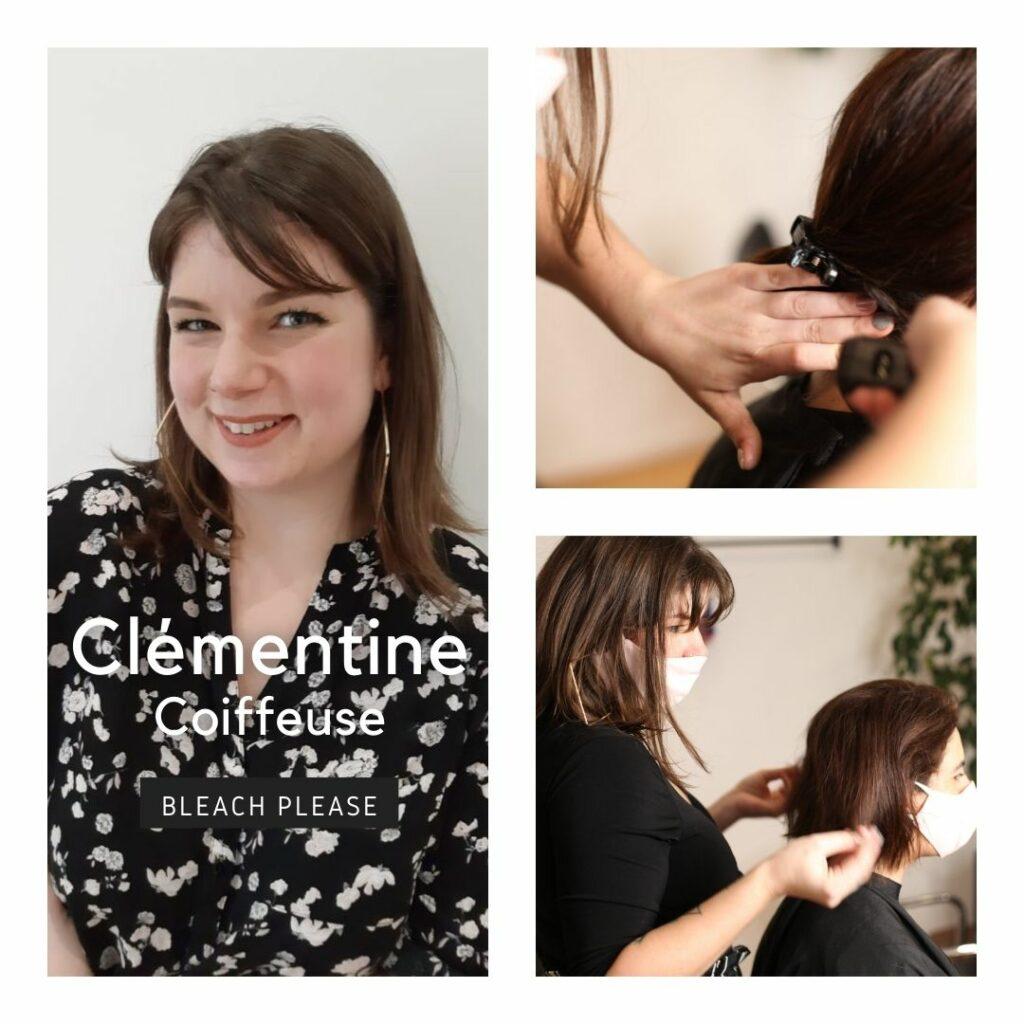 Clémentine coiffeuse dans le salon coworking RCOOP - hairdresser - Bleach please - Ixelles