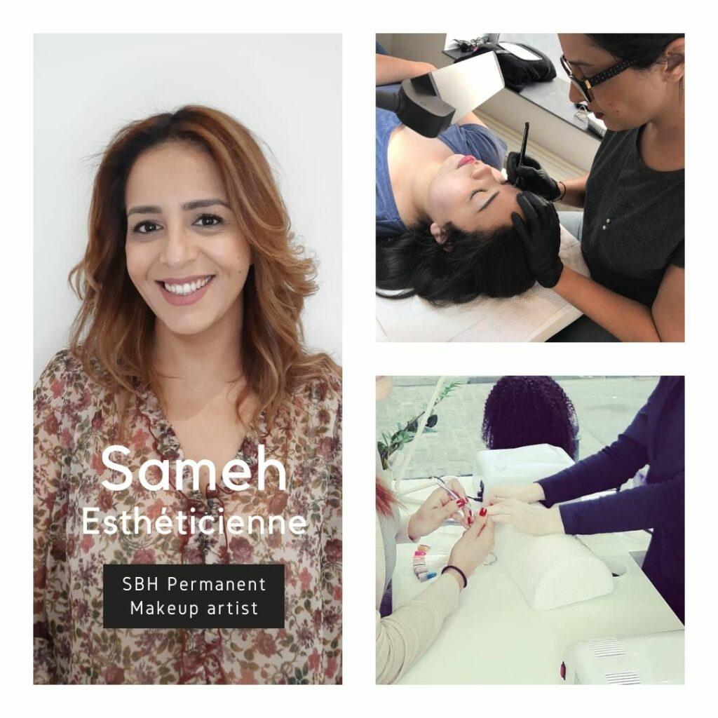 Sameh esthéticienne dans le salon en coworking RCOOP - esthetician - Sam beauty Rcoop - Ixelles